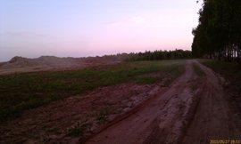 Прежняя дорога на грибной угол, слева был лес - увеличить