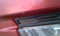 Микровмятинка бампера, глубина 0.8 мм, считается Повреждением машины и случай страховой! - увеличить