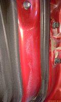 Грунт на краске, задняя левая дверь - увеличить