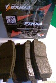 Задние тормозные колодки для Kia Ceed SW 2010 FRIXA FPK01NR 011 687-842 001 (и старые рядышком) - увеличить
