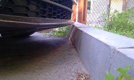 Комби А7 передний свес - ещё два сантиметра вперёд и бампер будет ободран! - увеличить