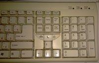 Расположение клавиш на стандартной клавиатуре - увеличить