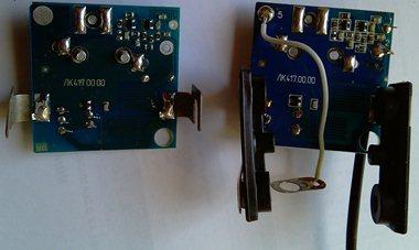 Новый усилитель LSA-417 2012 года (слева) и старая версия 2010 года (справа) - увеличить