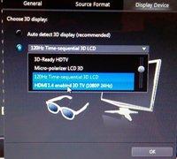 Меню в Power DVD 10 для настройки видеовыхода по HDMI кабелю - увеличить