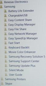 Богатый набор программ ноутбука Samsung RF712 - увеличить