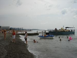 Пляж в Хосте, 2005 год