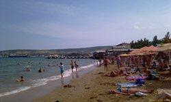 Феодосия центр, песчаный пляж - увеличить