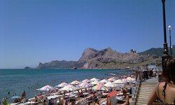 Судак - вид на море и Генуэзскую крепость - увеличить