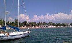 Евпатория, пляжи, вид с моря - увеличить