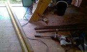 Две трёхметровые трубы, три метровые насадки, дрель Bosh - вот и все инструменты! - увеличить