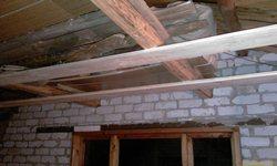 Первые две доски потолка! - увеличить