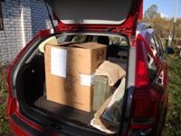Мотокультиватор в багажнике Kia Ceed. Внешний вид - увеличить