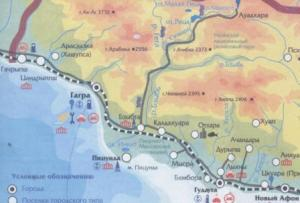Карта Абхазии - увеличить