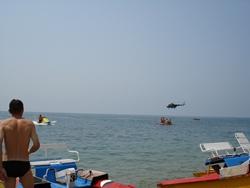 Прыжки в море с вертолёта (на парашюте). Такое есть только в Агое!