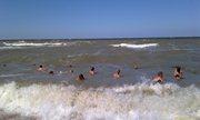 Бурное Азовское море с сильными волнами - увеличить