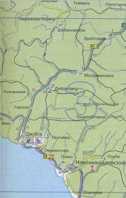 Карта маршрута Ольгинка - Дефановка - увеличить