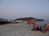 Вечерний пляж, Ольгинка - увеличить