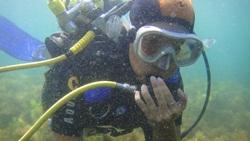 Глубина 1 метр - проверка дыхания - увеличить