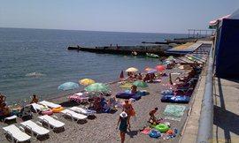 Морской уголок - пляж №1 - мелко-галечный и лучший пляж из всех четырёх - увеличить