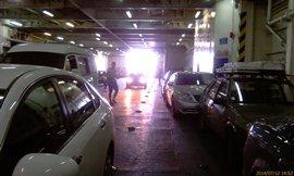 14:52, 21 час ожидания, заезжаем в трюм Ионаса. Машины с низким клиренсом только в трюм! (регулируют работники) - увеличить