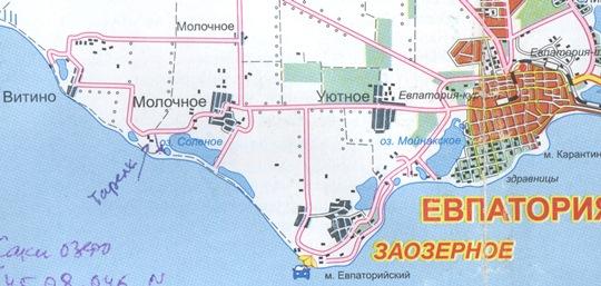 Карта малого солёного озера - увеличить