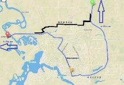 Схема объезда пробки в Тимашевске - увеличить