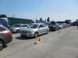 Накопитель в порту Крым - практически никого! - увеличить