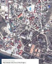Гугл карта маршрута от Орхидеи до моря - 650 метров, однако! - увеличить